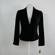 RAFAELLA Women's P4 Black Velvet Long Sleeve 2 Button Croped Jacket / Blazer NEW