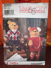 Cute Pattern Simplicity 8265 Decorative Bears and Clothes