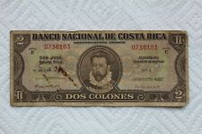 Costa Rica Banknote, 2 Colones from 1942