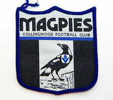 VINTAGE VFL COLLINGWOOD MAGPIES CLUB EMBLEM EMBROIDERED PATCH WOVEN CLOTH BADGE