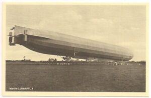 "Postcard ""Marine Luftschiff L 3"" Zeppelin Imperial German Navy Bomber L3 Airship"