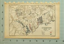 MAP/BATTLE PLAN STEENKIRK JULY 23rd - AUG 3rd 1692 BRITISH ALLIES FRENCH ENGHIER