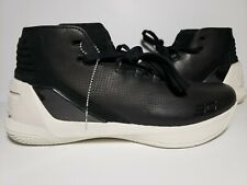 NEW Under Armour UA Curry 3 LUX Black Leather LMT Edition Basketball Size 9.5