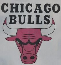 1 CHICAGO BULLS BASKETBALL QUILT BLOCK SEWING SQUARE Fabric Material Quilting