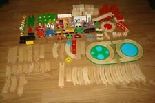 Thomas The Train Railway Wooden Trains, Track & Wooden Support - Lot