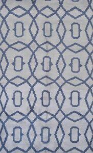 Geometric Modern Moroccan Handmade Oriental Area Rug Indoor/ Outdoor Carpet 5x8