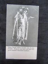 Antique 1914 Geraldine Farrar Victor Advertising Postcard Bratton's Music Store