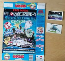 More details for 1984 shreddies cereal ghostbusters waterslide transfer - complete packet & 2 tfr