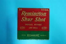 "Empty ""Remington Shur Shot� 12 Gauge Shotgun Shell Box"