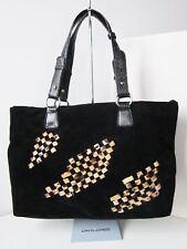 NEU David Jones Tasche schwarz Velour Bag handbag black Schultertasche Shopper