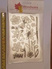 Woodware Clear Magic Stamps, Floral theme!
