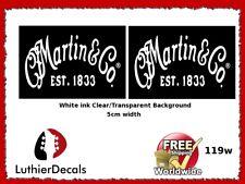 Martin & Co. Guitar Decal Waterslide Headstock Restoration Logo #119w