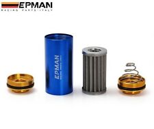 100 Micron FUEL FILTER INLINE -8an 8 AN AN8 Stainless Steel SS Element Turbo