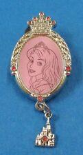 Disney Pin HKDL - Princess Jeweled Frames with gems dangler - Aurora & Castle