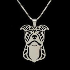 Pitbull Necklace Stainless Steel Dog Charm Pendant American Pit Bull Terrier New