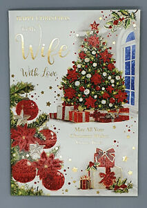 Wife Christmas Card, To My Wife With Love Xmas Card Merry Christmas