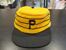 VINTAGE Pittsburgh Pirates MLB Baseball Pill Box Hat Cap Yellow Snap Back Twins
