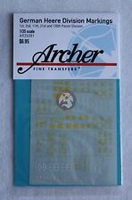 Archer 1/35 German Heer Panzer Division Markings WWII No.2 [Decal] AR35081