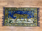 """Vintage Tapestry Wall Hanging Indian Tiger 41 1/2"""" X 23 1/2"""""""