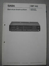 SABA Ultra HiFi 9060 Stereo Service Manual komplett