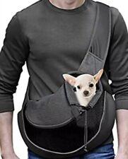 Yudodo Pet Dog/Cat Sling Carrier Black Breathable Mesh Travel Bag Medium Size