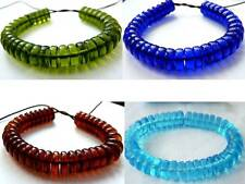 10(mm) THICK FLAT ROUND/DISC/RONDELLE/SPACER CZECH GLASS BEADS - 4 COLOURS