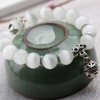 frauen jahrgang naturstein opal armband anhänger perlen an armband edelstahl