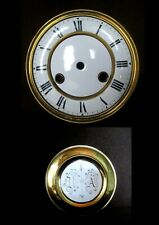 Lot CADRAN + BALANCIER ancienne HORLOGE COMTOISE laiton email Pendule Clock Uhr