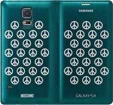 ORIGINALE UFFICIALE SAMSUNG GALAXY S5 SM-G900F FLIP PORTAFOGLIO VERDE MOSCHINO