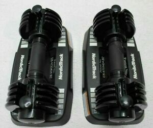 2 x NordicTrack Select-A-Weight Adjustable Dumbbell 2.5-12.5 LBS! Brand new!!