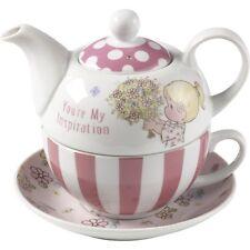 % New Precious Moments Porcelain Afternoon Tea Sets Pot Cup Saucer Flower Pink
