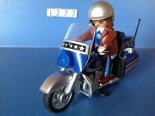 (L277) playmobil moto type goldwine bleue et grise ref 5114 année 2012