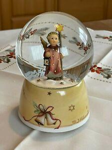 Hummel Goebel Schneekugel Spieluhr Engel HUM343 Weihnachtslied Christmas Song