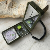 10 in.1 Multifunktions Outdoor Survival Militär Camping Wandern Kompass Tool  /