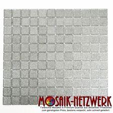 Glasmosaik silber Transluzent Transparent Kristal BAD WC Art:60-0207_f |10Matten