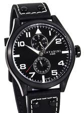"""Cavadini """"stingray"""" hombre reloj pilotos calendario Vx7p 50mm"""