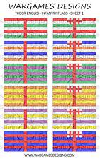 Bandiere 28 mm-FANTERIA INGLESE TUDOR-FOGLIO 1-LUCCIO & SHOTTE, Barocco, DBR