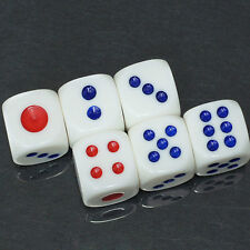20Pcs Plastic Opaque Six Sided 10mm D6 Dice Club Bar KTV Party Table Games Tool