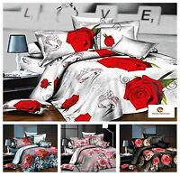 3D Effect Bedding Complete Set 1 Duvet Cover 2 Pillow Cases & 1 Fitted Sheet