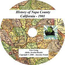 1901 History & Genealogy of NAPA County California CA
