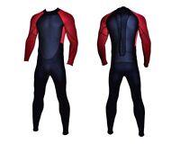 Black Red Full Body Wetsuit Smooth Skin 3mm Neoprene Surf Scuba Mens 3 mm New