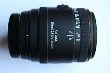 SONY A MOUNT FIT Sigma EX 70mm f/2.8 EX DG Lens + HOOD + CAPS + BOX 70 mm