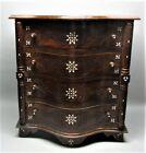 Fine ANTIQUE SYRIAN Mother-of-Pearl Inlaid Walnut Serpentine Cabinet  c. 1950 #2