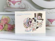 Til Death skeleton bride & groom tattoo alternative handmade wedding invitations