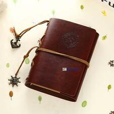 Vintage Classic Retro Leather Journal Travel Notepad Notebook Blank Diary EA