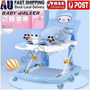 4 IN 1 Foldable Baby Walker Stroller Kids Adjustable Ride On Toys Car With Music