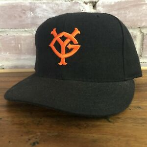 Vtg Yomiuri Giants Hat Cap Fitted Size 7 1/4 Tokyo Baseball Black New Era Wool