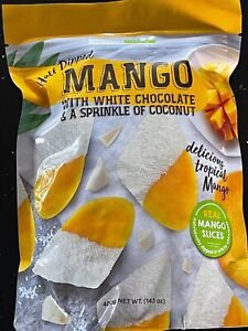 Tropical Fields 1/2 Dipped mango with White choc & A sprinkle of Coconut - 400gm