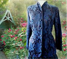 Monsoon Vintage Jacket Brocade Long  High collar Victorian Edwardian VGC