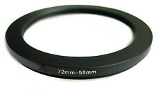 Step-down adapter ring 72-58 72mm-58mm Anodized NEW